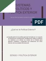 Sistemas Políticos y Política Exterior