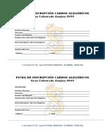 Fechas de Inscripción Carros Alegóricos Jauja 2019