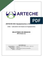 Relatório de Ensaios Rti 014-11 Arteche