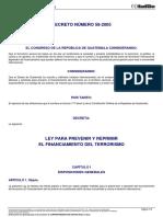 2. Decreto_del_congreso_58-2005 Ley Para Prevenir y Reprimir El Financiamiento Del Terrorismo