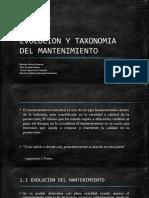 Evolucion y Taxonomia Del Mantenimiento