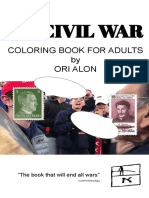 My Civil War, Coloring Book for Adults by Ori Alon 2019