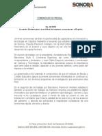 16-02-2019 Acuerda Gobernadora movilidad de talentos sonorenses a España