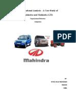 Organization Analysis of Mahindra and Mahindra.docx