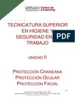 PROTECCION OCULAR, CRANEANA Y FACIAL UTN