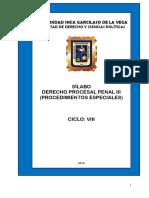 08 Derecho Procesal Penal III Procedimientos Especiales
