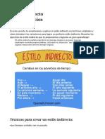 ESTILO DIRECTO E INDIRECTO ACTIVIDADES.doc