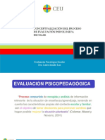El Proceso Evaluación Psicopedagógica 2019