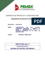 ESP-P-6720 Especificacion Sistemas de Control Distribuido