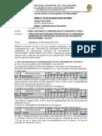 Informe 05, Informe de Compatibilidad de Expediente Tecnico