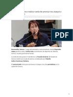 21-02-2019 - Fiscalía de Sonora realiza rueda de prensa tras ataque a comunicadores - Tribuna.com.mx