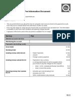 Fee Information Document