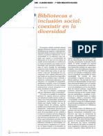 Bibliotecas e inclusión social - Daniel Canosa
