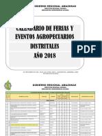 Calendario Distrital de Ferias 2018