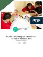 Manual Completo de Desbloqueo Tableta Windows 2015