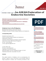 Diabetes Care in the Philippines | Paz-Pacheco | Journal of the ASEAN Federation of Endocrine Societ