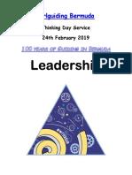 Thinking Day Program 2019