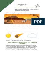 Cómo Influye La Energía Solar en Los Seres Vivos, El Agua, El Aire y Suelo Grado 3