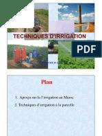 Techniques d'Irrigation -GME&EM (1èrep-2015