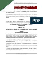 LEY DE PROTECCIÓN A LOS ANIMALES DEL DISTRITO FEDERAL 2002