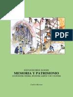 CARLOS MORENO - Reflexiones Memoria y Patrimonio (libro digital).pdf