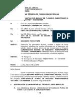 informe de condiciones previas de un proyecto