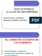 Ambiente Interno y Externo de una empresa