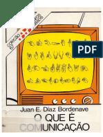 Juan E. Diaz Bordenave - 1982 - O Que É Comunicação