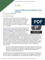 20160114_Enunciado Self Service, Feito Em Workshop, Virou Fonte Para Preventiva_0K - Precedentes