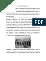 La Universidad de San Carlos de Guatemala