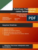 Máquinas Rotativas Trabajando Como Generadores