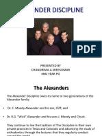 alexander discipline