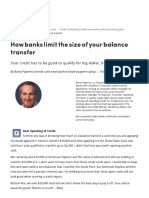 How Banks Limit the Size of Your Balance Transfer - CreditCards