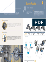 Dosing Solutions - Screw Feeder - Datasheet