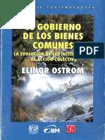 Ostrom-El Gobierno de Los Bienes Comunes