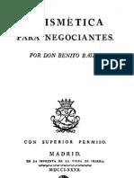 1780 Benito Bails Aritmetica Negociantes
