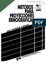 CELADE (1984). Métodos Demográficos Para Proyección Población