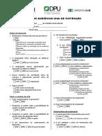 Formulário Audiências Una Ou Instrução