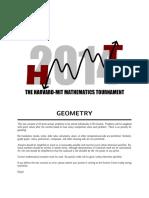HMMT Geometry Round 2018