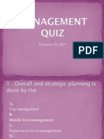 Management Quiz Ppt