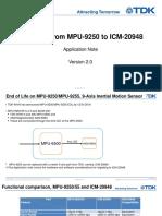 Doc1-TDK Migration MPU 9250toICM-20948