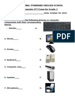ICT exams | Input/Output | Computer Data Storage