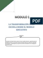 La Transformación de La Escuela Desde El Modelo Educativo