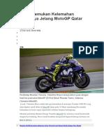 Rossi Temukan Kelemahan Motornya Jelang MotoGP Qatar