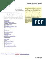 General English Grammar Tips- Tenses Download in PDF