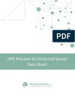 Hpe Proliant DL20 Gen10 Server Datasheet