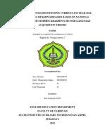 An Analysis of English Intensive Curriculum on Buttom Class in MINU KH Mukmin.docx
