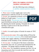 Water Supply Plumbing Systems