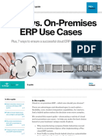 On premises ERP Use cases