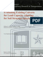 Evaluating Existing Culverts for Load Capacity Allowing for Soil Structure Interaction 2010
